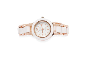 Dhanari Women's White Round Shape Dial Party Wear Watches (WAT-14)N4