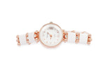 Dhanari Women's White Round Shape Dial Party Wear Diamonds  Watches (WAT-14)N5