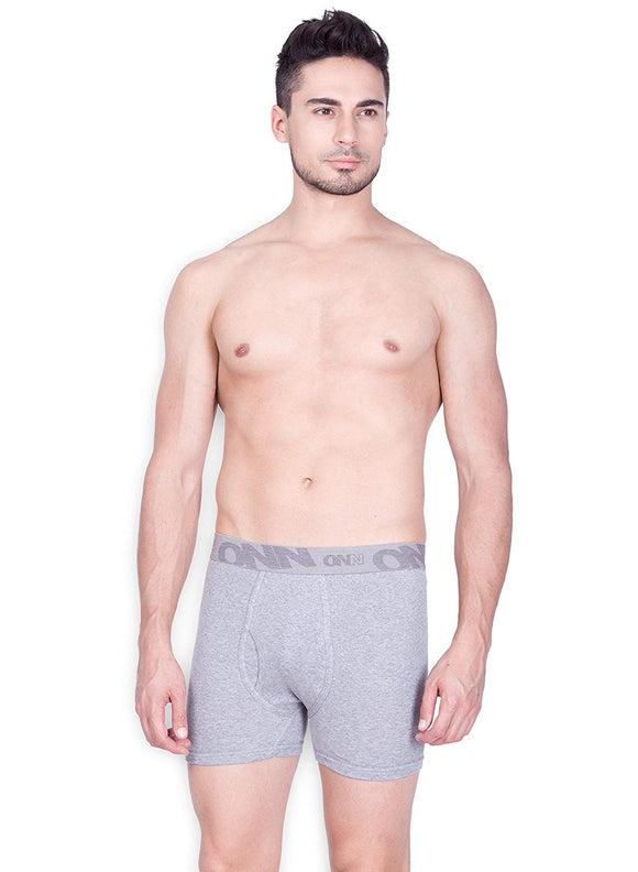ONN Cotton Long Trunk For Men's (BRF-357-Light Grey Melange)