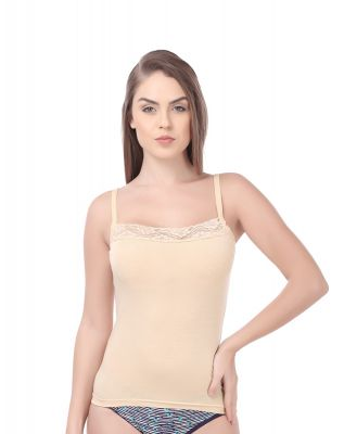 Softline Butterfly Skin Color Camisole For Women's (CS_C102_ Skin)