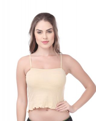 Softline Butterfly Skin Color Frill Camisole For Women's (CS_C104_ Skin)