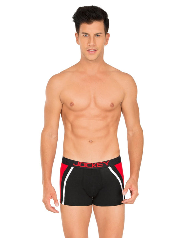 Jockey Men's Zone Stretch Trunk (BRF_#US21_BLACK)