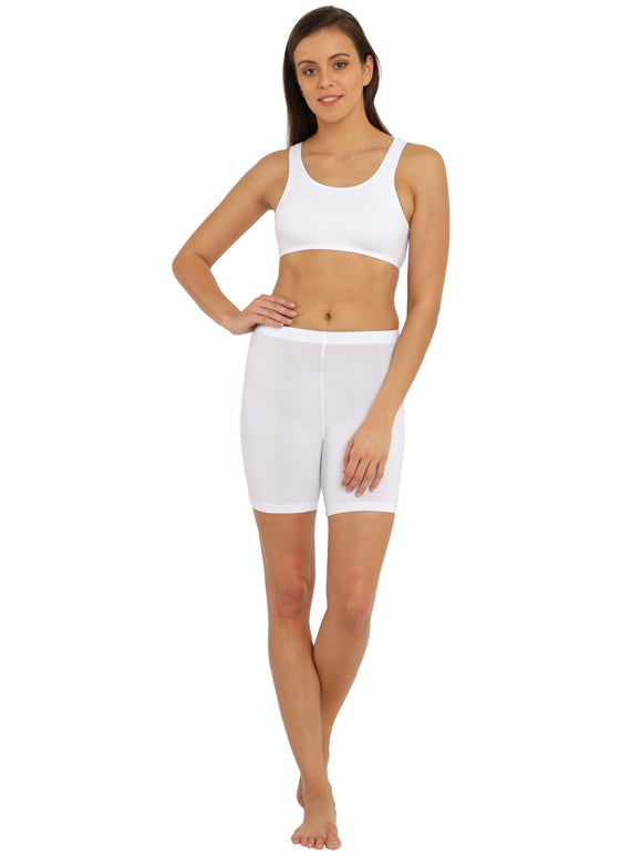 Jockey Women's Comfort Fit Comfies/Shorties (SHORT_#1529_WHITE)