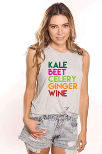 Kale Wine Muscle Tank