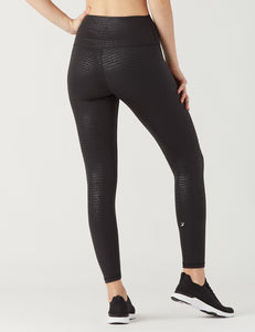 HIGH POWER LEGGING II: BLACK PEBBLE GLOSS PRINT