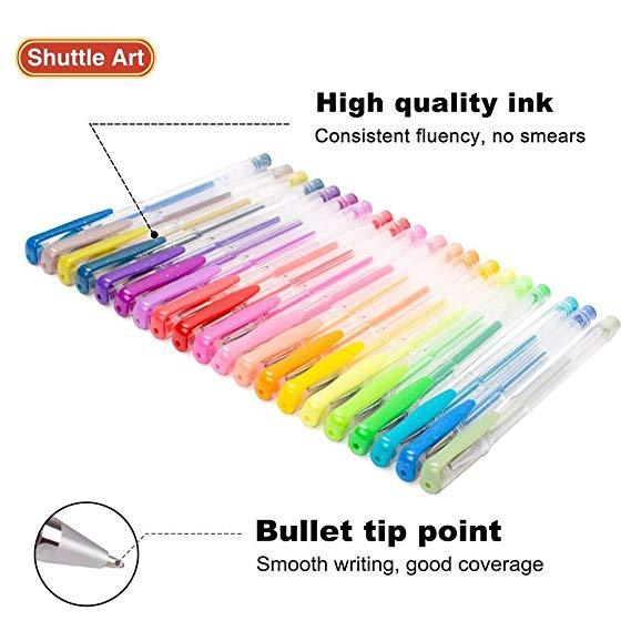 120 Unique Colors (No Duplicates) Gel Pens