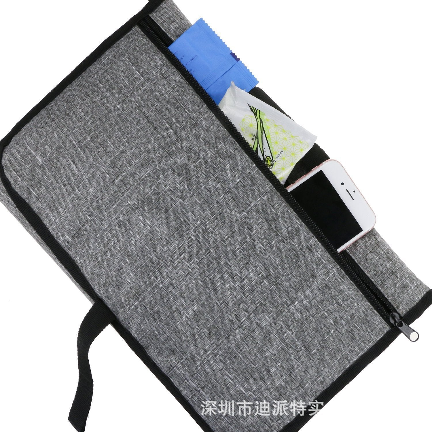 ALL-IN-ONE PORTABLE DIAPER BAG CLUTCH CHANGING STATION