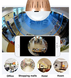 360 panoramic bulb wifi camera