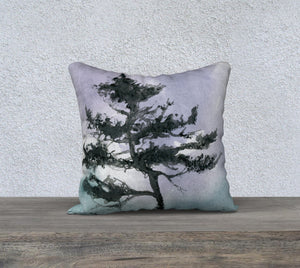 "Dancing Shore Pine 18 x 18"" Pillow Case"