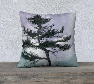 "Dancing Shore Pine 22 x 22"" Pillow Case"