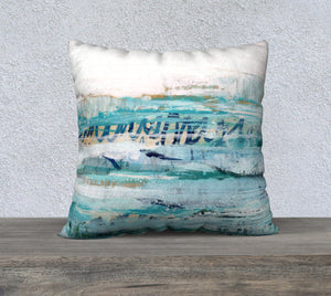 "Waves 22 x 22"" Pillow Case"