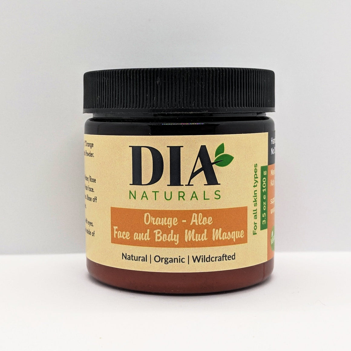 Organic Orange Aloe Face and Body Mud Masque