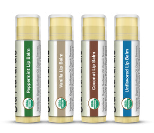 USDA Assorted Organic Lip Balms - 4pk