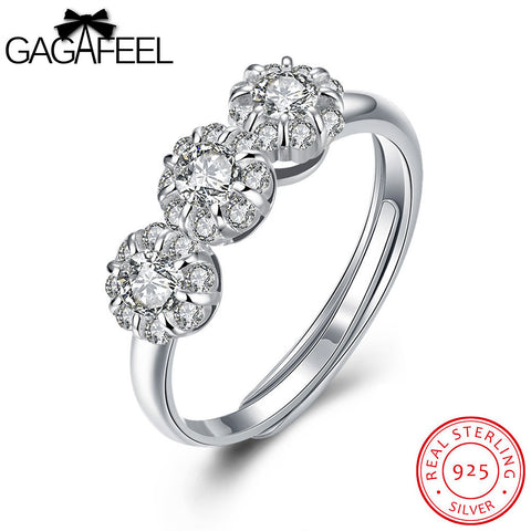 925 Silver and Zirconia Dress Ring