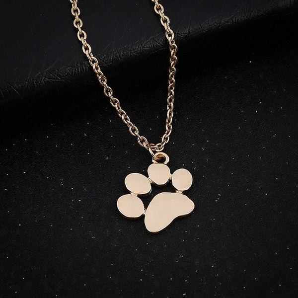 Delicate Dog Paw Pendant Choker Necklace