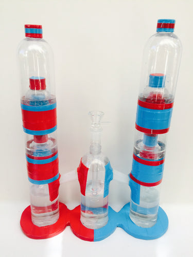 Red/Blue Double Bong
