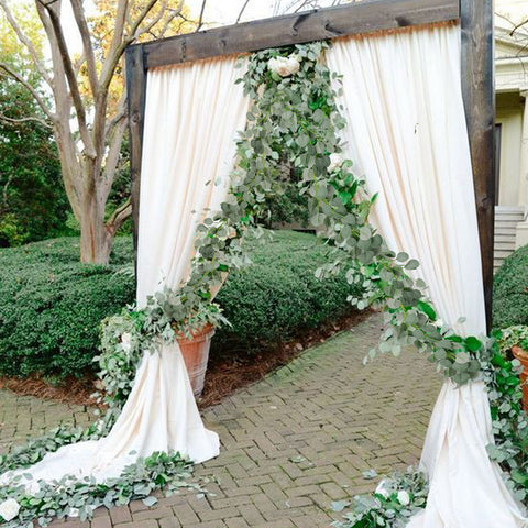 eucalyptus chain wedding decoration artificial greenery