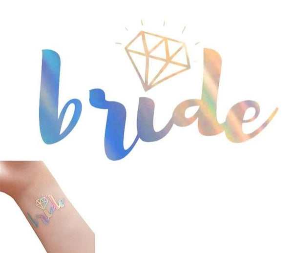 silver metallic tattoo bride tribe team bride diamond