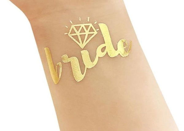 gold metallic tattoo bride tribe team bride diamond