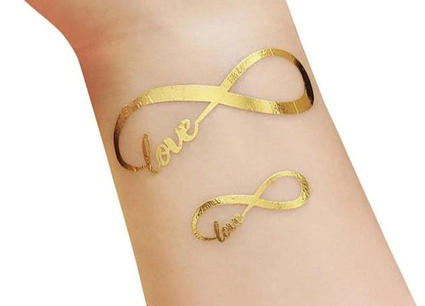 gold metallic tattoo bride tribe team bride infinity