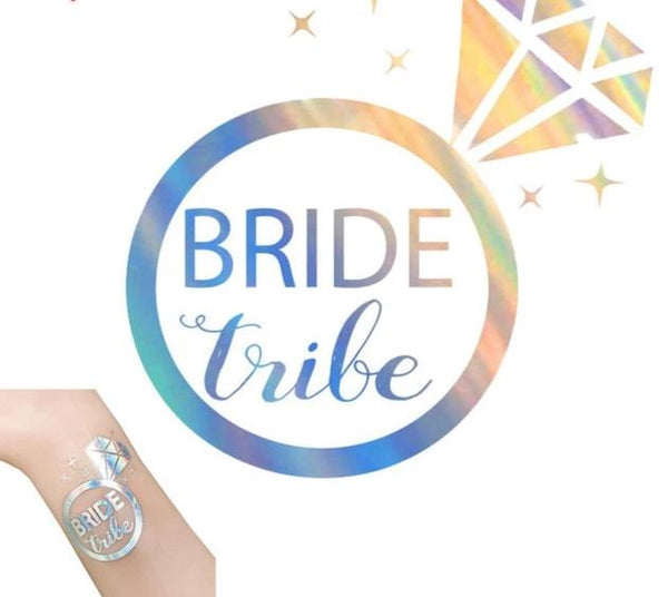 silver metallic tattoo bride tribe team bride iridescent