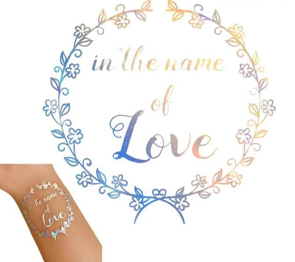 silver metallic tattoo bride tribe team bride in the name of love