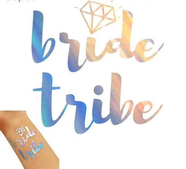 silver metallic tattoo bride tribe team bride