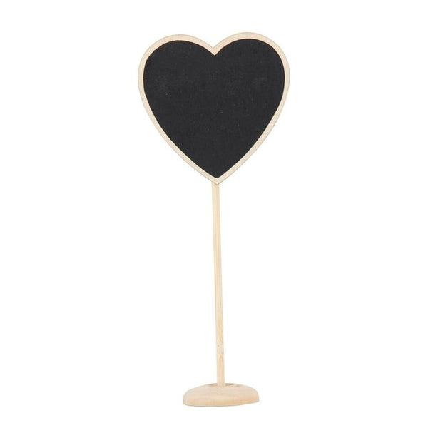 mini chalkboard set wedding table settings and name place plates heart