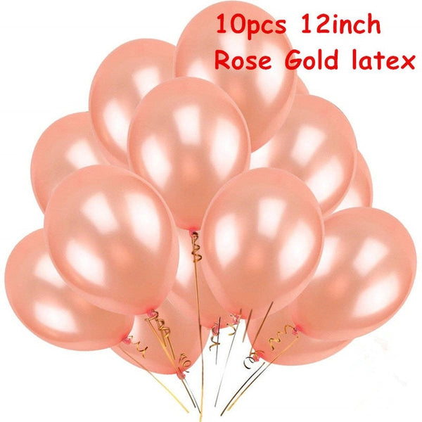 rose wedding party decoration balloons on a budget