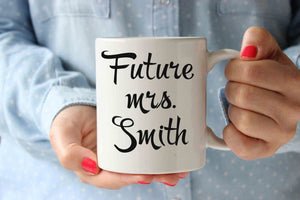 personalized 'the future mrs' mug