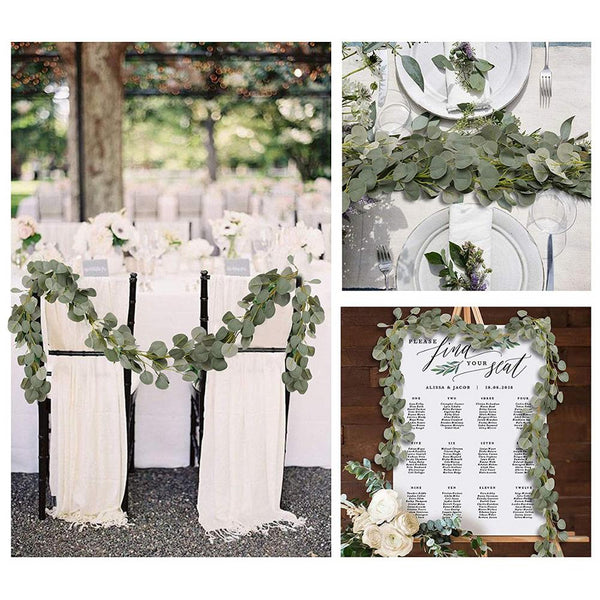 eucalyptus chain wedding decoration artificial greenery chair