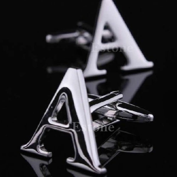 A to Z initial letters cufflinks