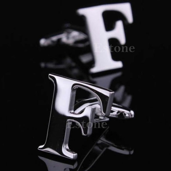 a-z alphabet novelty costume cufflinks for grooms or groomsmen F