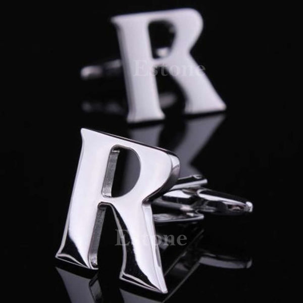 a-z alphabet novelty costume cufflinks for grooms or groomsmen R