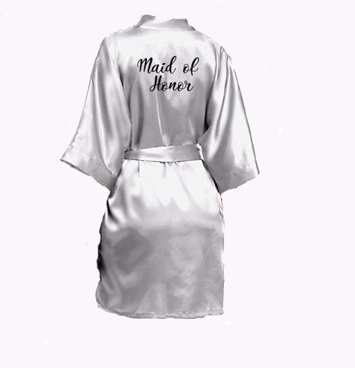 bridal party satin robes bride, bridesmaid, mother of the bride, made of honor, mother of the bride, mother of the groom