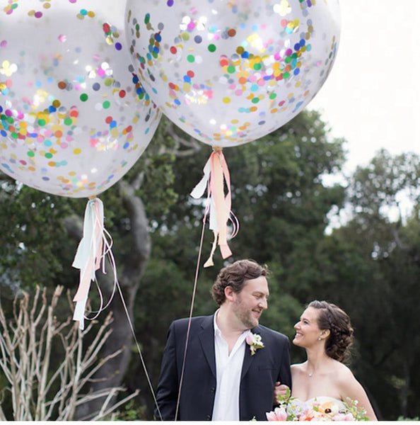 confetti balloons large for weddings and venue decoration