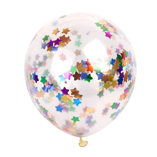 confetti balloons large for weddings and venue decoration multi color star