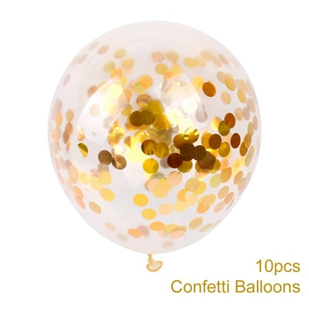 confetti balloons large for weddings and venue decoration gold