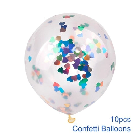 confetti balloons large for weddings and venue decoration multi color heart
