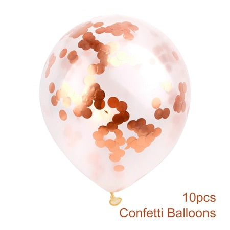 confetti balloons large for weddings and venue decoration bronze