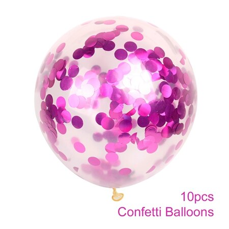 confetti balloons large for weddings and venue decoration pink
