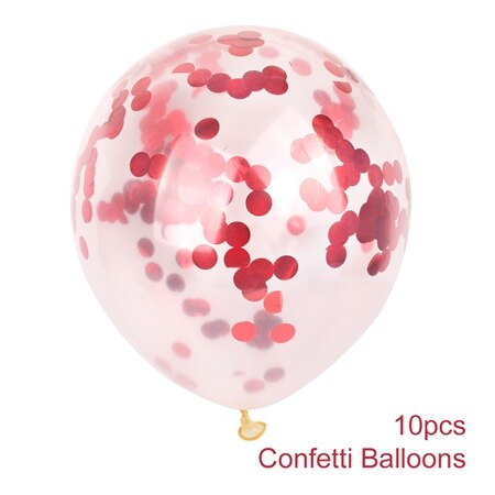 confetti balloons large for weddings and venue decoration red