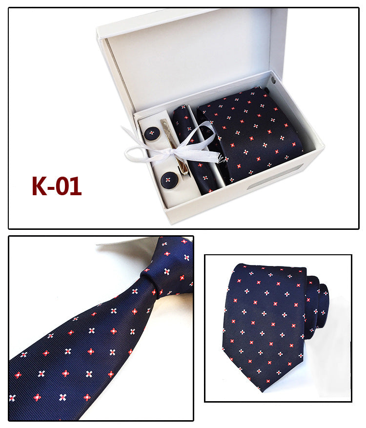 groom's men tie and cufflink gift box set