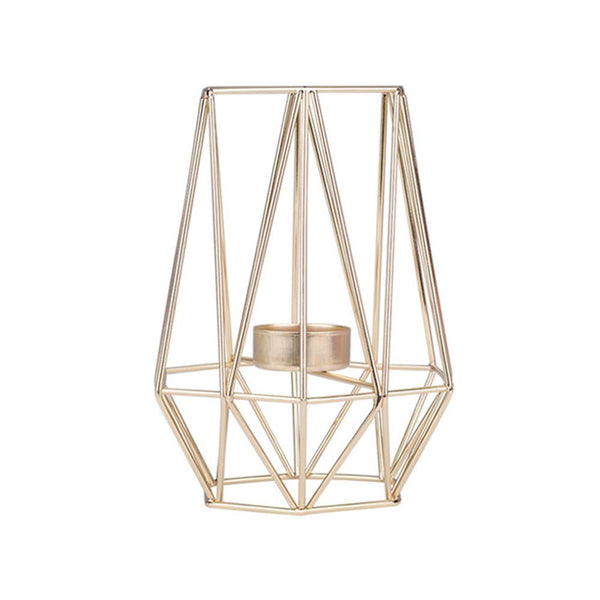 gold geometric candle holder tea light wedding decoration