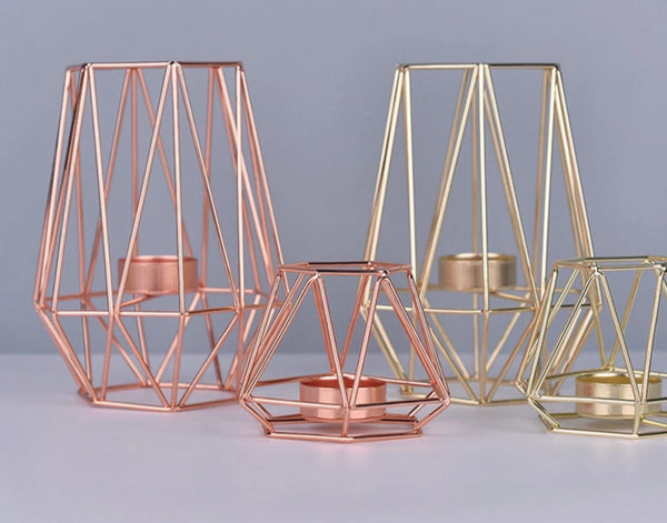 rose gold tea light candle holder