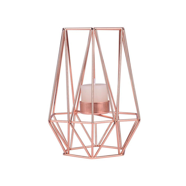 wedding decorations geometric candle tea light holder rose gold
