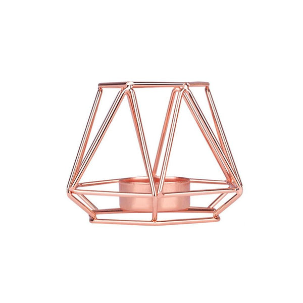 rose gold candle holder wedding decoration