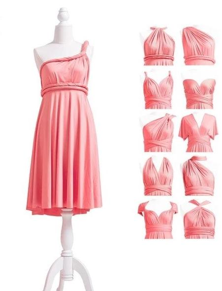 multiway affordable wedding bridesmaid dress coral