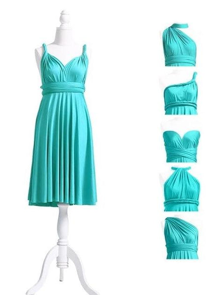 multiway affordable wedding bridesmaid dress turquoise