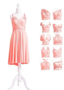 multiway affordable wedding bridesmaid dress pink